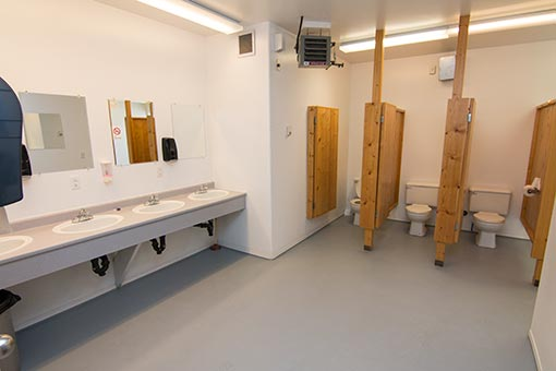 clean showers and facilities